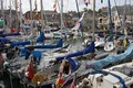 A crowded Padstow harbour